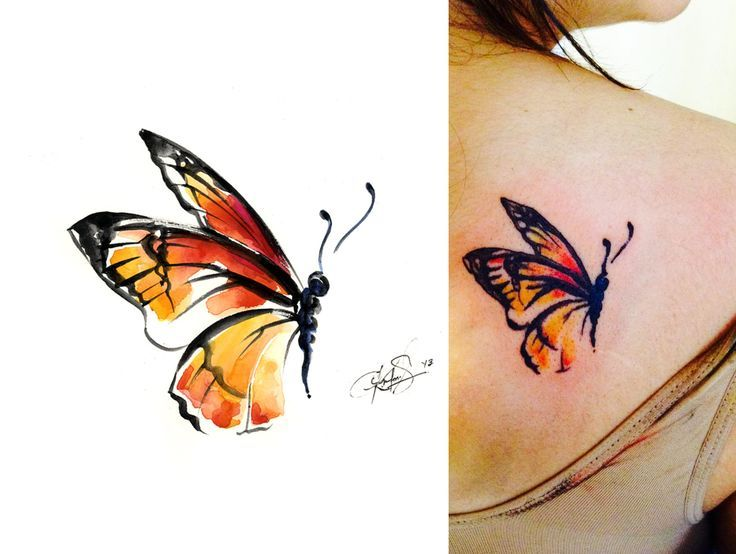 Watercolor Flower Moth Tattoo My Precious Ink: 22 Best My Tattoo Watercolor Art