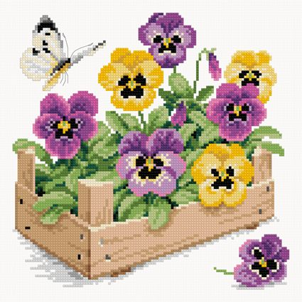 Violets (FREE CROSS STITCH CHART)