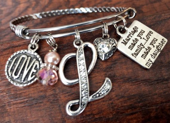 STEPDAUGHTER, Stepdaughter Gift, Blended Family Gift, Blended Family Wedding,  DAUGHTER In LAW, Bangle Bracelet, Marriage Made You Family