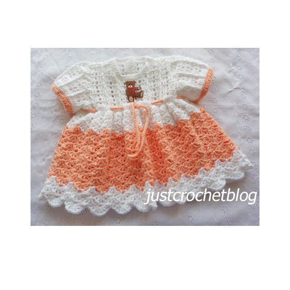 Pretty Crochet Dress Baby Crochet Pattern Download 162bfjc Etsy Crochet Baby Dress Crochet Baby Patterns Crochet Baby Clothes