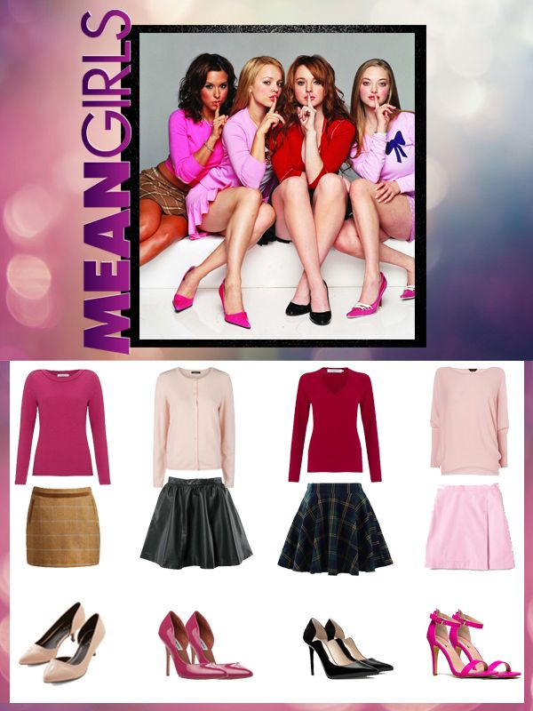 means girls diy group halloween costume you can be the plastics for halloween - Halloween Quote Mean Girls