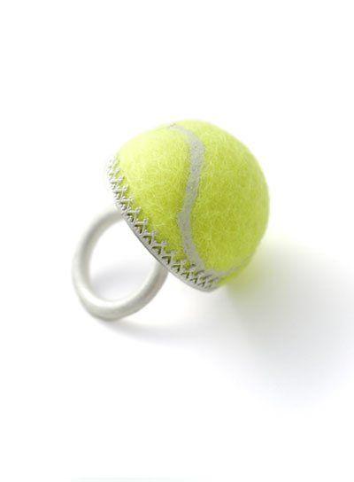 tennis-ball-ring / anello tennis #tennis Follow @TennisPirate on Twitter!