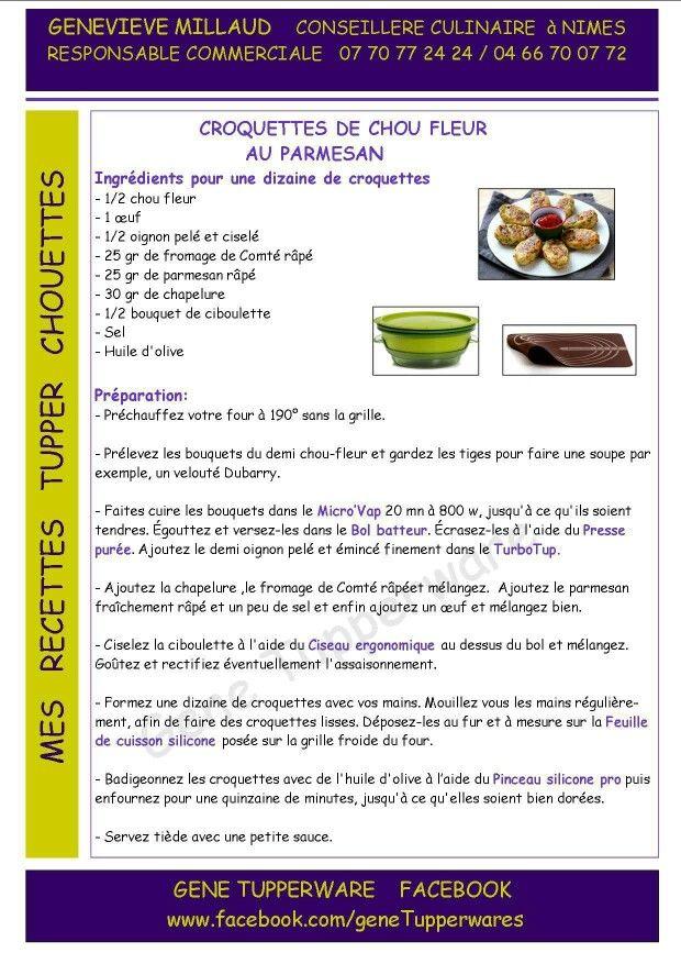 Tupperware - Croquettes de chou fleur au parmesan