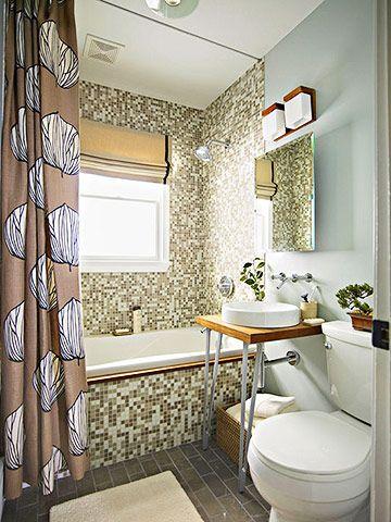 Small Bath Makeovers Tile Bathroom And Tubs