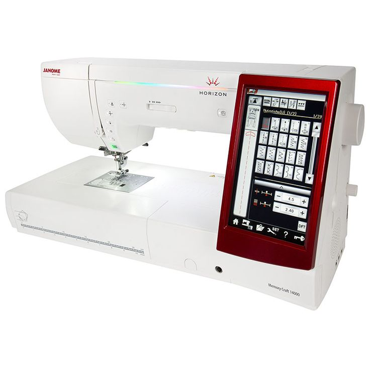 The Janome MC14000 sewing/embroidery machine - for more information, please visit our website www.janome.com.au