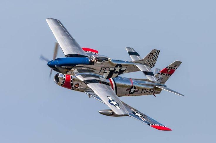 A great shot of the P-51 and F-86. beautifulwarbirds@gmail.comTwitter: @thomasguettlerBeautiful WarbirdsFull AfterburnerThe Test PilotsP-38 LightningNasa HistoryScience Fiction WorldFantasy Literature & Art
