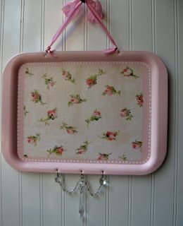 Hope and Joy Home: Upcycled Magnet Board Chalk Board Shabby Chic and French Farmhouse Trays