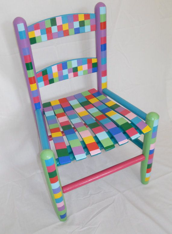 Painted child's chair (love this or adults, too).