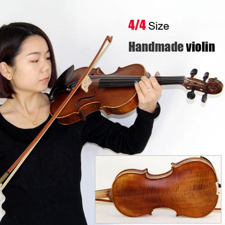 4/4 Size Violin Handmade Violin Bow Case Handmade Oil Varnish //Price: $176.07 & FREE Shipping //     #hashtag2