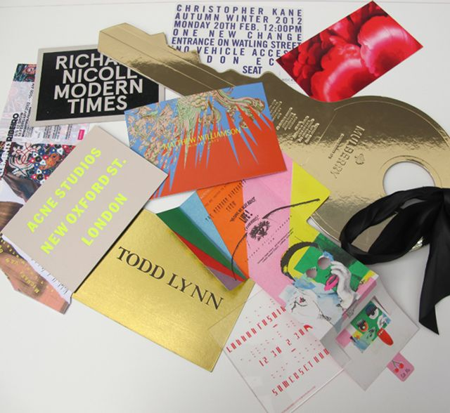 London Fashion week invitations