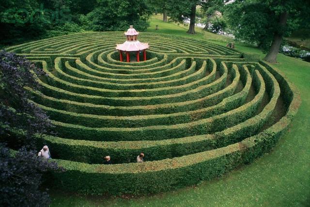 Maze in Woburn's Private Gardens