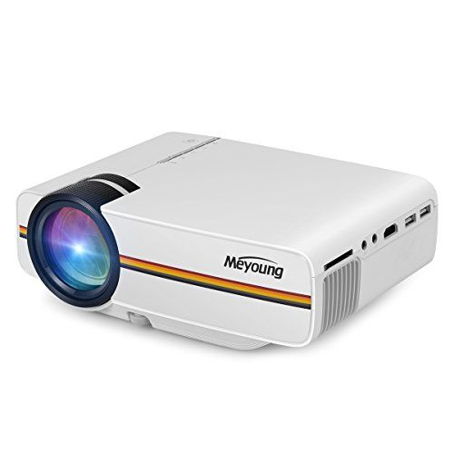 What to Watch & The Equipment You Need for a Fabulous Backyard Movie Night - Meyoung Portable Projector Support 1080P 1200 Luminous Efficiency 150