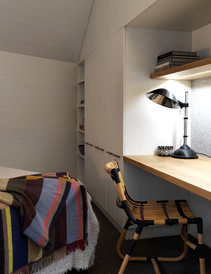 Interiors | alwill  #wardrobe #desk #wood #bedroom