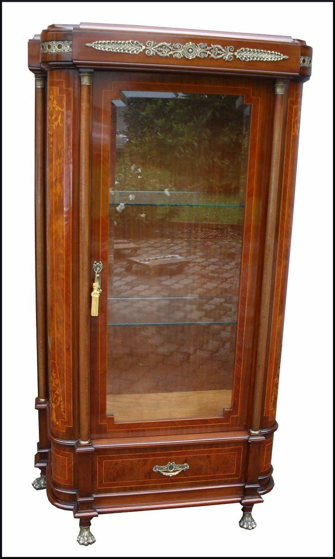 Antica vetrina impero di fine 800