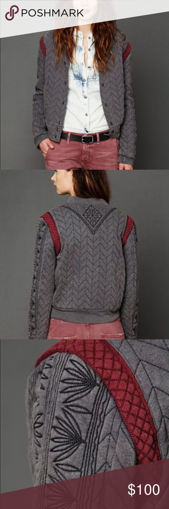 Free People New Romantics Quilted Baseball Jacket Beautiful Free People jacket! Super soft and cozy!! Wish this was my size, it's still being sold online. Free People Jackets & Coats