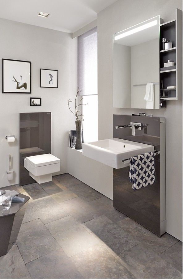 91 best completed bathroom projects gallery images on pinterest - Spiegelschrank bad weiay ...