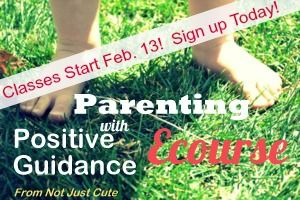 I'm excited to take this Parenting with Positive Guidance Ecourse - want to join me?