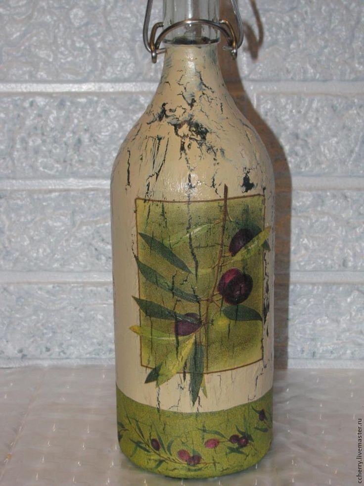 Предлагаю вашему вниманию идею по декору бутылки для масла, или для других нужд, в технике декупаж на стекле. Подойдет для начинающих декупажников. Так как никаких сложных способов декора тут нет. Надеюсь, моя идея вам пригодится! Нам потребуется: бутылка из ИКЕИ ватный диск ацетон лак алкидный краски акриловые кракелюр одношаговый битумный лак воск…