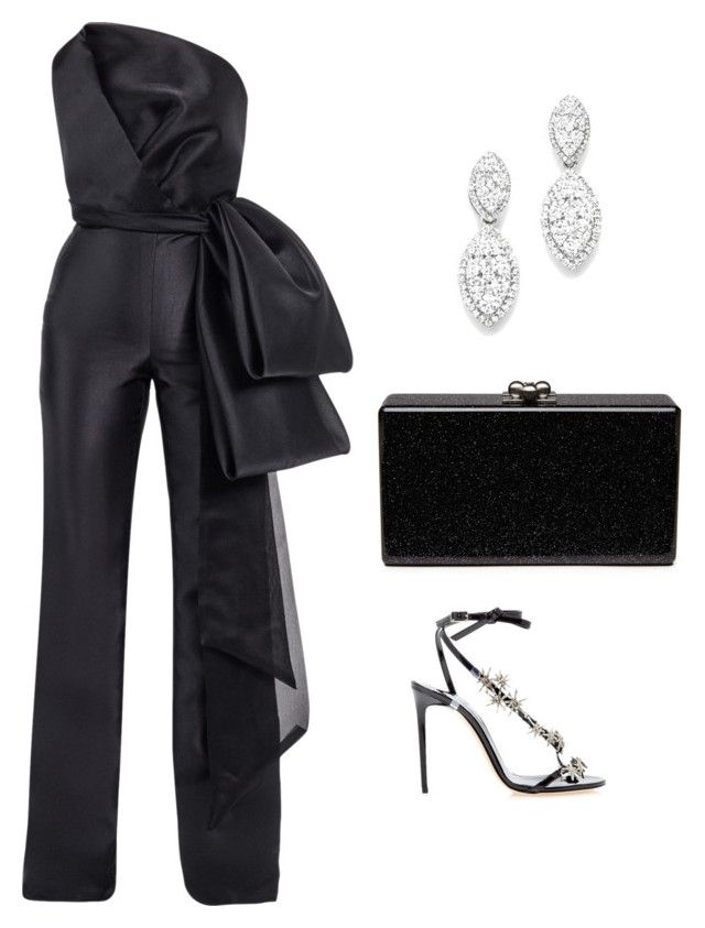 """Untitled #604"" by mchlap on Polyvore featuring Mark Bumgarner, Oscar de la Renta, Bloomingdale's and Edie Parker"
