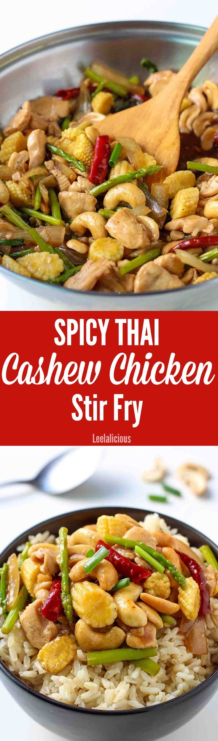 This delicious recipe for Thai Cashew Chicken Stir Fry is super quick to make and delivers big time on authentic Asian flavors. It is perfect for easy, weeknight dinners.