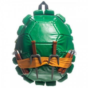 Teenage Mutant Ninja Turtles Backpack With Masks And Weapons Green