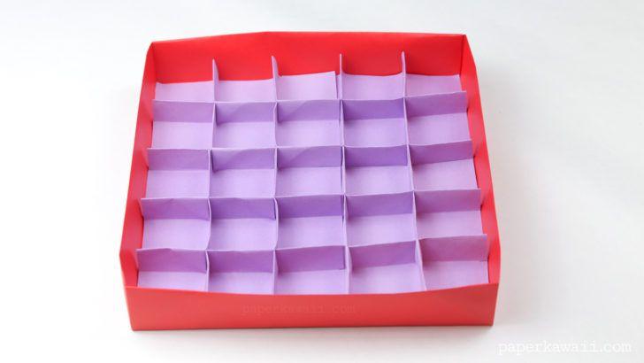 25 Раздел Оригами Инструкция Делитель Коробки
