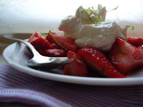 LCHF-bloggen: Limemarinerte jordbær med mascarponekrem