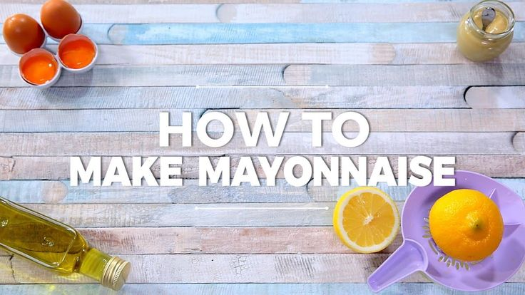 This is a must: learn how to make delicious home-made mayonnaise.   --------------------- Follow us on: Facebook: http://sodl.co/2dRsH0l Instagram: http://sodl.co/2eMvdCP  Twitter: https://twitter.com/sodlco  Pinterest: http://sodl.co/2jq3kHY