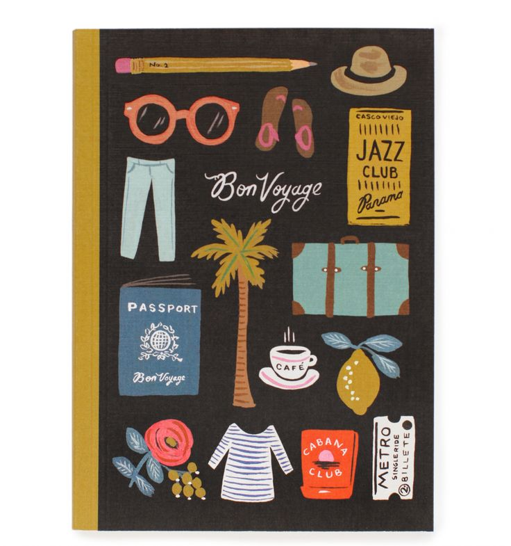 Travel Essentials Smyth Sewn Journal // rifle paper co by anna bond