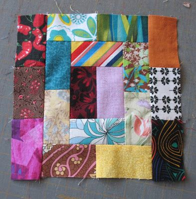 Creative Chicks: Start of a scrappy project Love this scrappy block!