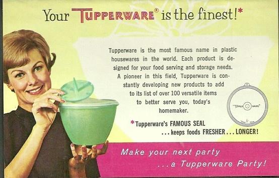 Vintage Tupperware ad..