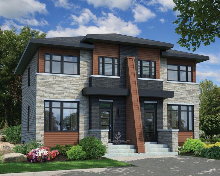 59 Best Modèles De Maison Jumelée, Plans De Duplex, Plans De Triplex De  Dessins Drummond Images On Pinterest | Duplex Plans, Modern Contemporary  Homes And ...