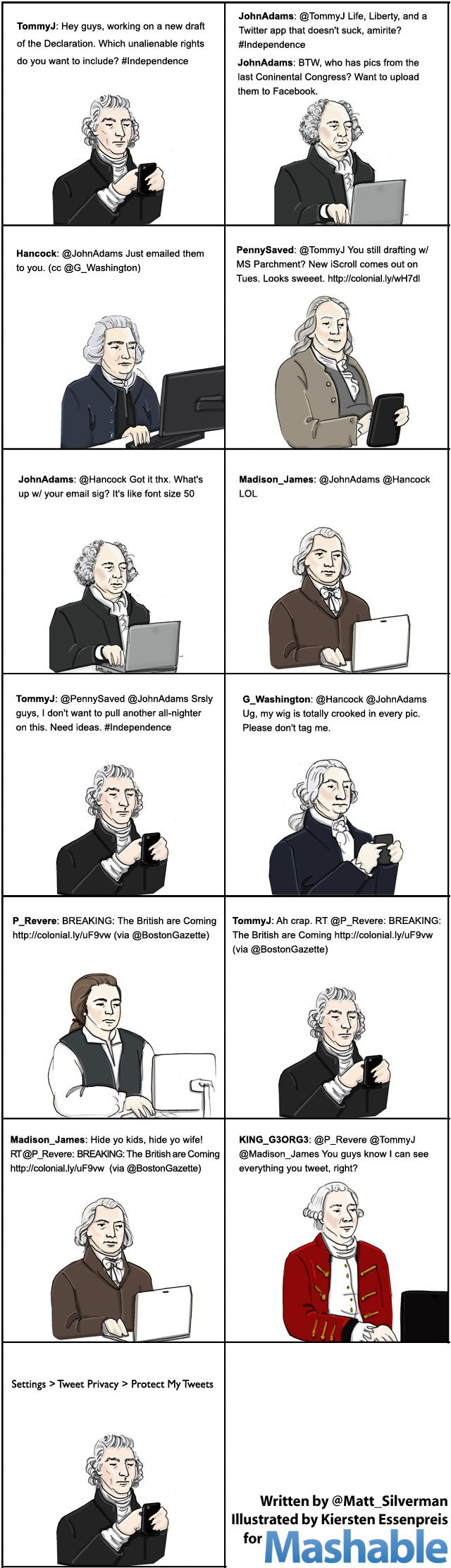 f Twitter had been invented in 1776 instead of 2006, the American Revolution would have been so much more… what's the word… awesome.
