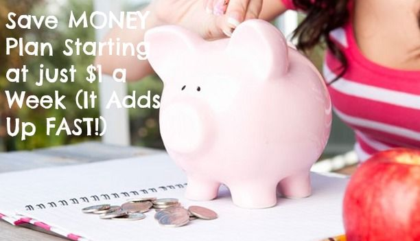 DIY Savings account....Easy Money Saving Weekly Plan (Starts at Just One Dollar a Week and Adds Up FAST!): Plans Start, Save Money, Money Save, Save Plans, Save Week, Easy Save, Things, Easy Plans, Easy Money