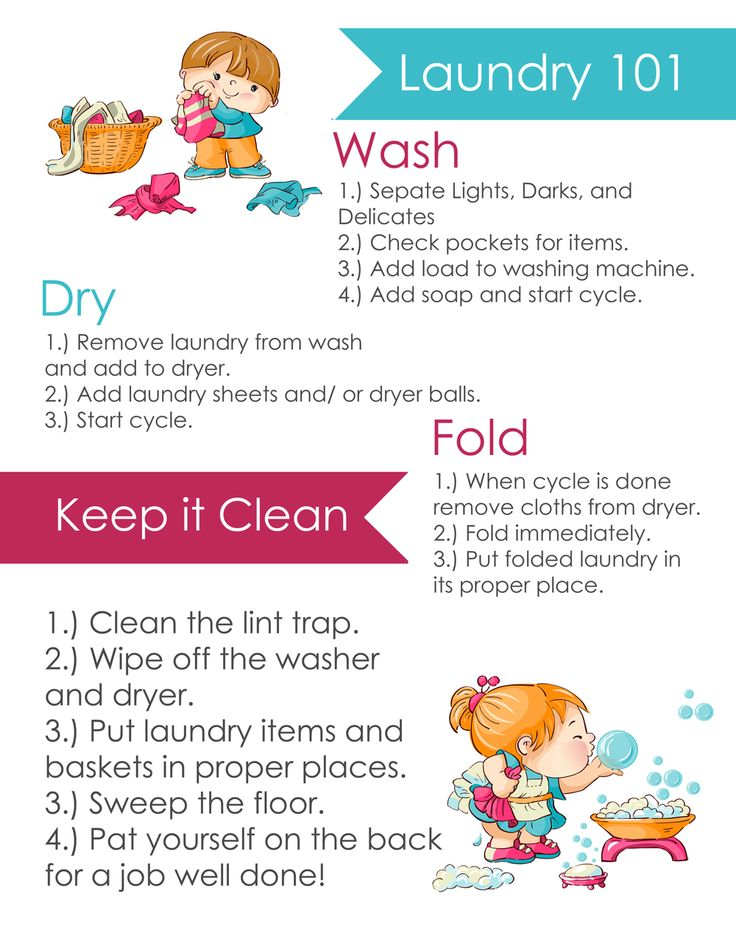 14 best teach kids how to do laundry images on pinterest Cleaning tips for the home uk
