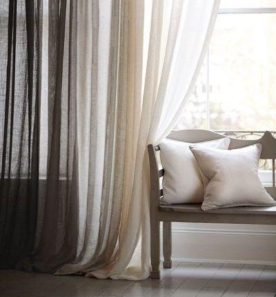 cortinas de lino