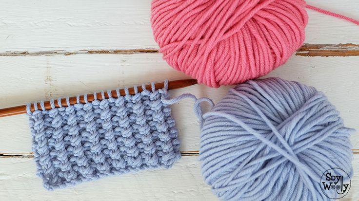 Punto fácil para tejer ropa de bebés en dos agujas