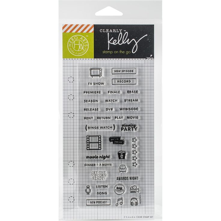 Hero Arts Kelly Purkey Clear Stamps 2.5X6-TV Planner