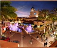 City Place, downtown West Palm Beach - Open air shopping, dining and evening entertainment in downtown West Palm Beach including open sidewalk cafes and a spectacular dancing water fountain that performs every hour.
