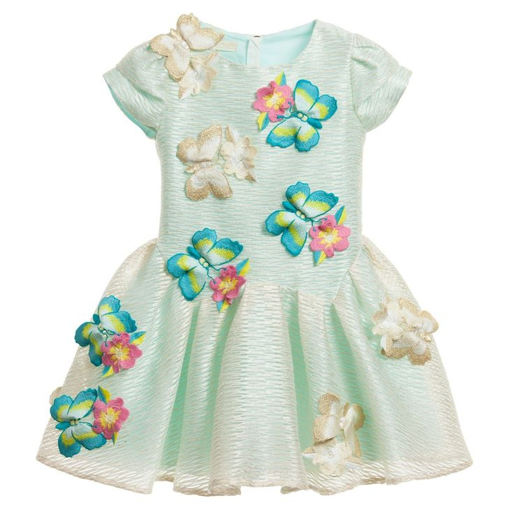 I PINCO PALLINO Butterfly & Floral Embroidered Organza Dress