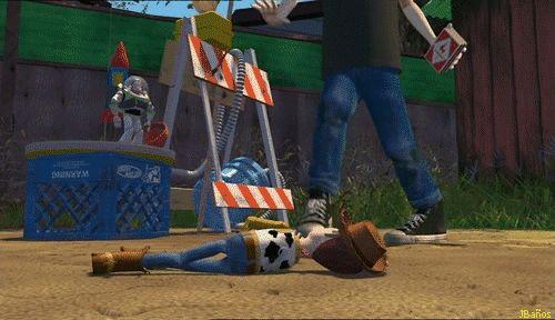 Woody en la barbacoa - Toy Story