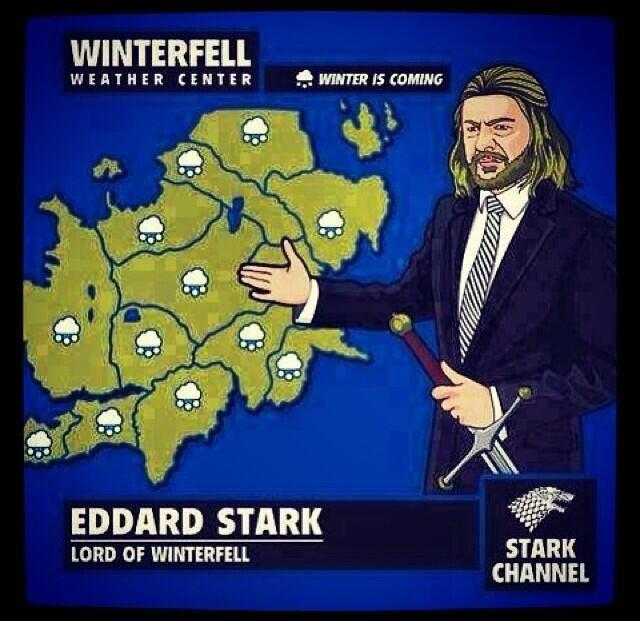 Winterfell Weather Center pic.twitter.com/r5uuesKAqG
