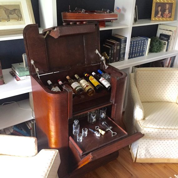 The SpeakEasy TM Antique Radio Hidden Liquor by StoneArtShop