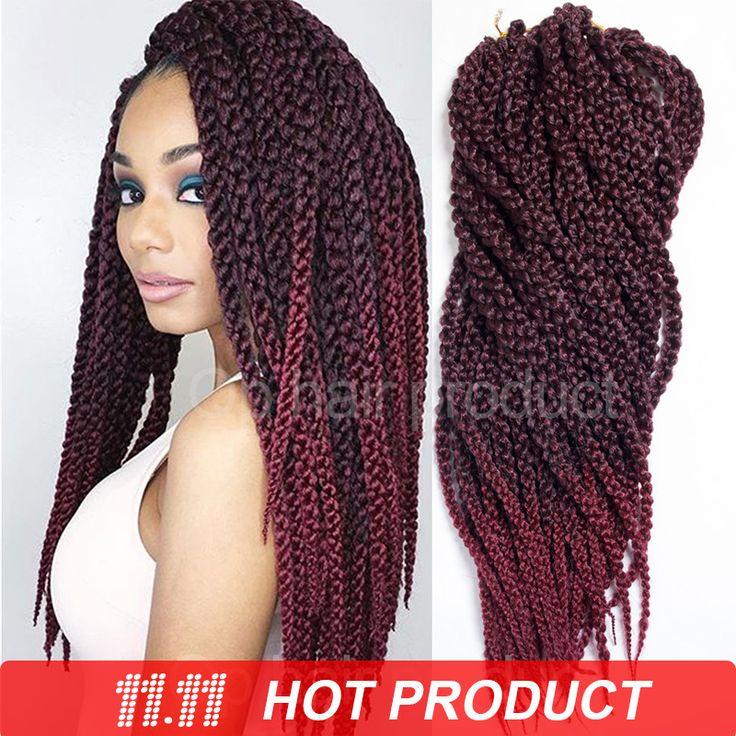 "3D Cubic Twist Crochet Braids Ombre 22"" 150g/pack Ombre Crochet Braid Hair Extensions High Quality Kanekalon Braids Hair"