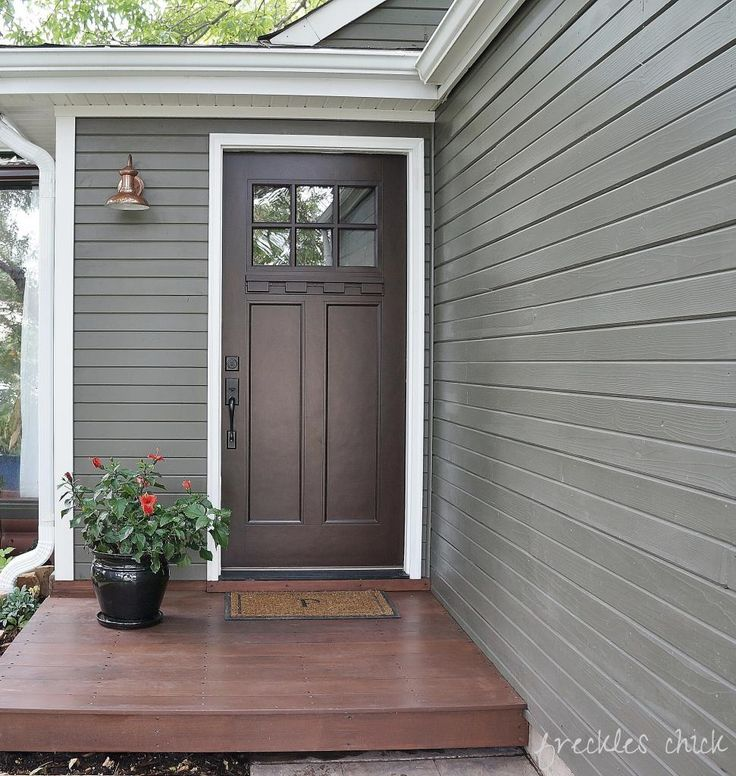 Great Curb Appeal The Stain Behr Premium In Chocolate