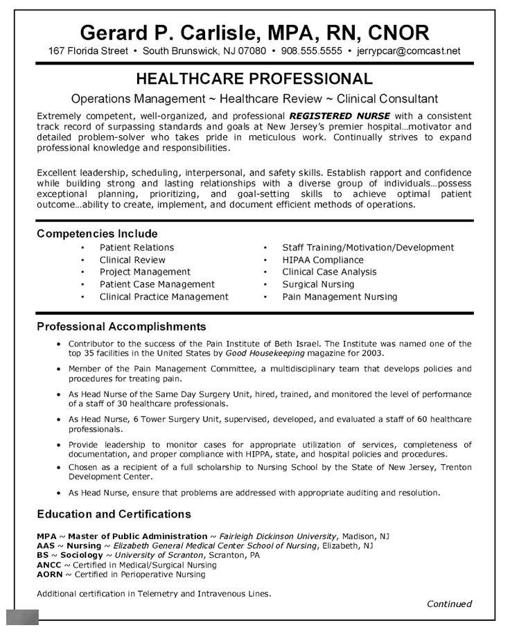 resume summary new grad nurse