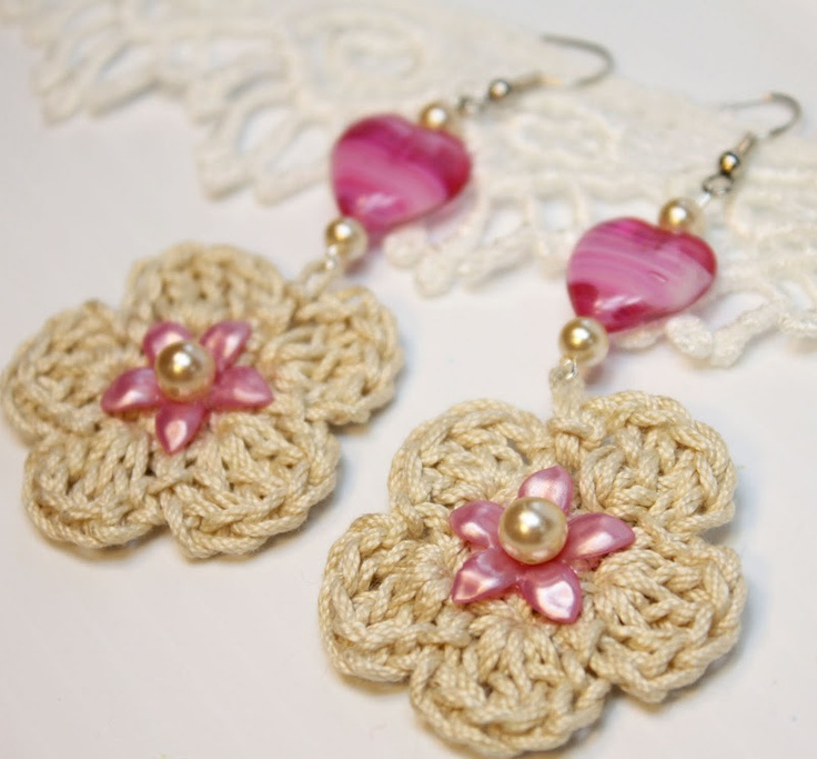 crochet earrings Inspiracion ✿⊱╮Teresa Restegui http://www.pinterest.com/teretegui/✿⊱╮