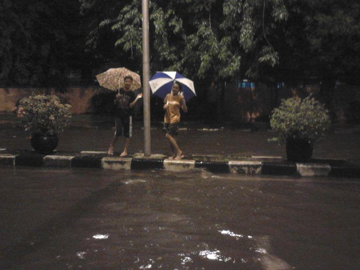 flood at night