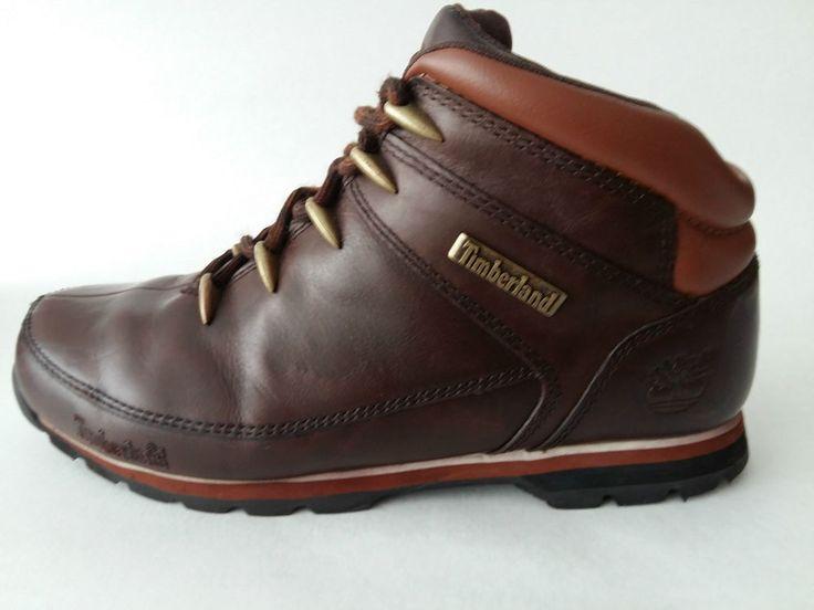 TIMBERLAND Mens Leather Hiker Boots Brown UK 9,5 EU 44 US 10