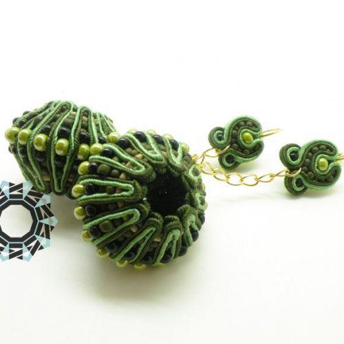 Soutache 3D zielony